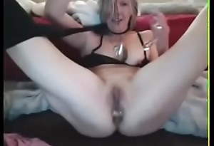 awesome milf squirts like crazy on the top of webcam