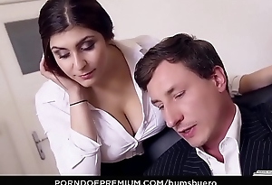 BUMS BUERO - Curvy German vixen pounded hard by her boss