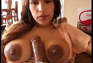 Hot milf wife showing big tits on cam chat