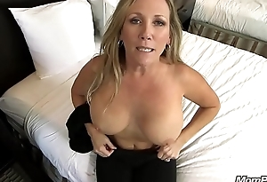 Beautiful Broad in the beam Tits Cougar Fucks Your Cock POV