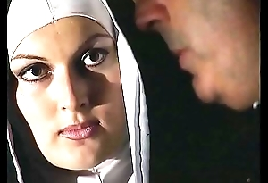 Horny nun wants a hard cock concerning her immoral ass