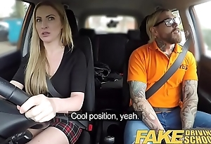 Fake Driving School Fake instructors hot car fuck just about busty blonde minx