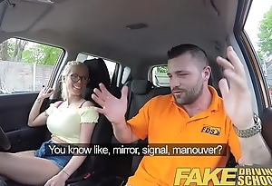 Fake Driving School Busty beauteous indenture fucks fake driving instructor