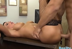 Stunning office MILF cockriding her boss