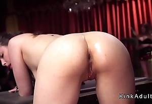 Hawt busty and big asses slaves tormented