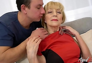 AgedLovE Blonde Mature Fucked Unconnected with Youngster