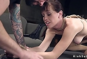 Ex husband ties close by and fucks ex wife