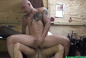Military party hunks cockriding in groupsex