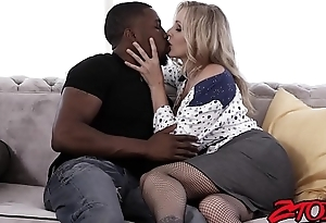 Busty MILF Julia Ann gets fucked hard at the end of one's tether big black cock