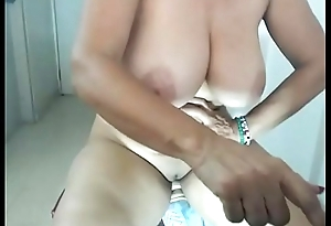 Wow milf got super error-free tits masturbating with toy for free