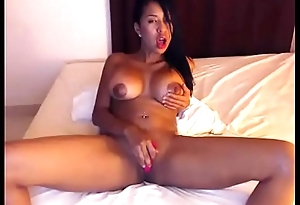 Young ebony girl toying pussy for fun on web camera live