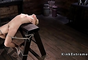 Hogtied adaptable Milf gets tormented