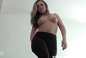 Let someone have me finish my yoga and then I will help you cum JOI