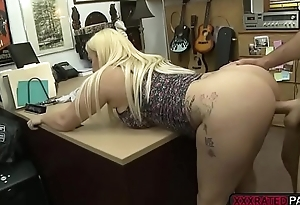 Busty babe Nina Kayy fucks Shawns bigcock apropos the office