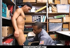 Black Twink Caught Stealing Weed Fucked By Hot Security