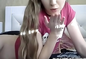 Sweet pigtail camgirl playing with vibration - More on 666sexcam.com