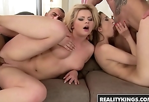 RealityKings - Euro Sex Parties - (Angel Black, Jimena Lago) - Play And Lick